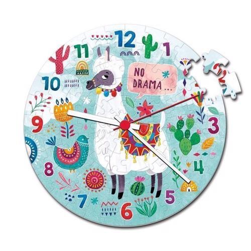 Image of Clementoni - Clock Puslespil Lama 96stk