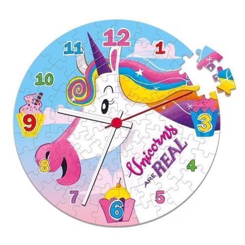 Image of Clementoni - Clock Puslespil Enhjørning 96stk