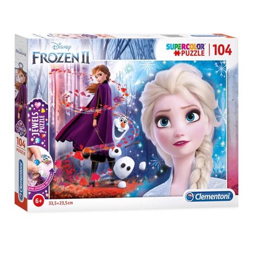 Image of Clementoni Puzzlespil Disney Frozen 2 104 Brikker