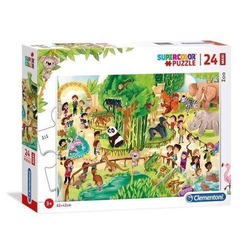 Image of Clementoni - Maxi Puslespil Zoo, 24stk