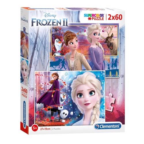 Image of Clementoni Puzzle Disney Frozen 2 X 60 Brikker