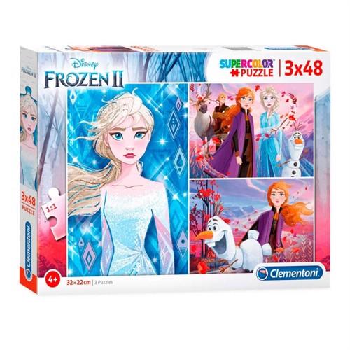 Image of Clementoni Puzzle Disney Frozen2 3X48 Brikker