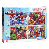 Clementoni Puzzle Marvel Superheroes, 4in1