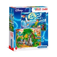 Clementoni Puzzle Peter Pan and Jungle Book, 2x60st.