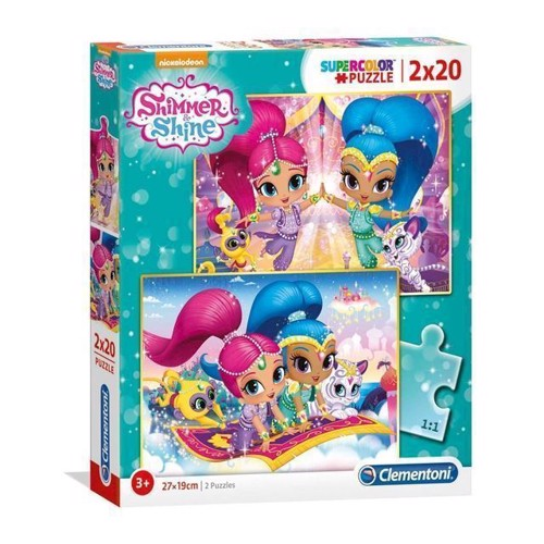 Image of Clementoni Puslespil - Shimmer and Shine 2x20stk