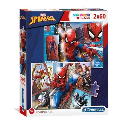 Image of Clementoni Puslespil - Spiderman 2x60stk