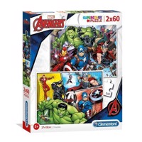 Clementoni Puslespil - The Avengers 2x60stk