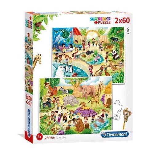 Image of Clementoni Puslespil - Zoo 2x60stk
