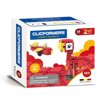 Image of Clicformers Craft Set Red, 25 pcs. (8809465535650)