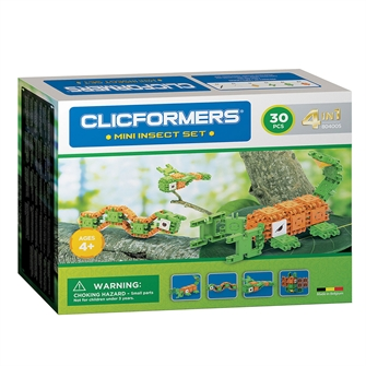 Image of Clicformers Mini Insects Set 4in1, 30 pcs. (8809465534196)