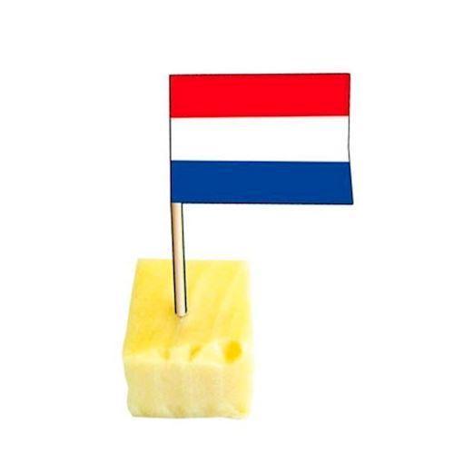 Image of Drink pinde med hollansk flag 50 stk
