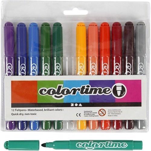 Image of Colortime Marker Line bredde 5 mm Additional farver 12 stk
