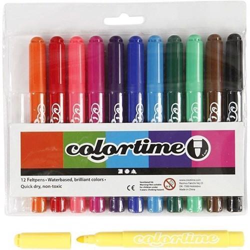 Image of Colortime Marker Line bredde 5 mm Standard farver 12 stk