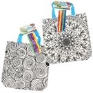 Color your own Bag - Mandala / Roses