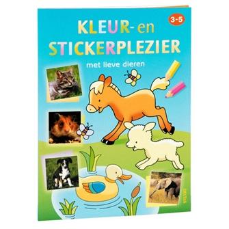 Image of Male og klistermærke bog med dyr