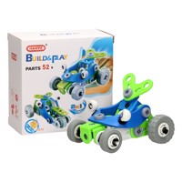 Construction and Playset Racing Cars 2in1, 52pcs.