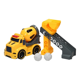 Image of Construction Vehicles Light ; Sound - Cement trolley Set (3800966021890)