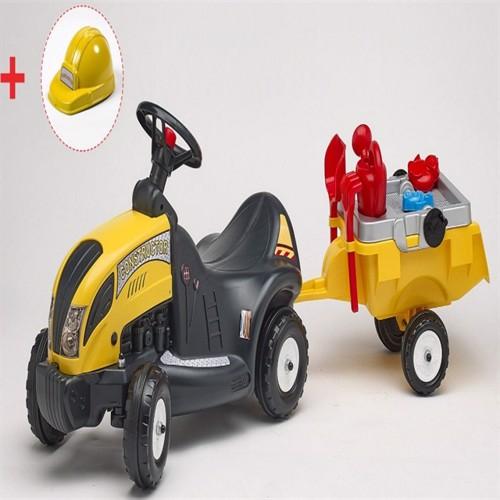 Image of Constructor Gåbil Med Trailer, Værktøj Og Hjelm