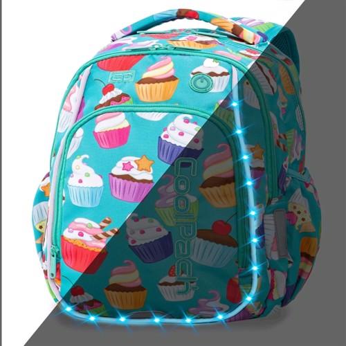Image of Coolpack Skoletaske Med Led Lys, Cupcakes (5907690894528)