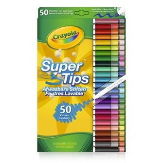 Image of Crayola Super Tips, 50 stk (071662505103)