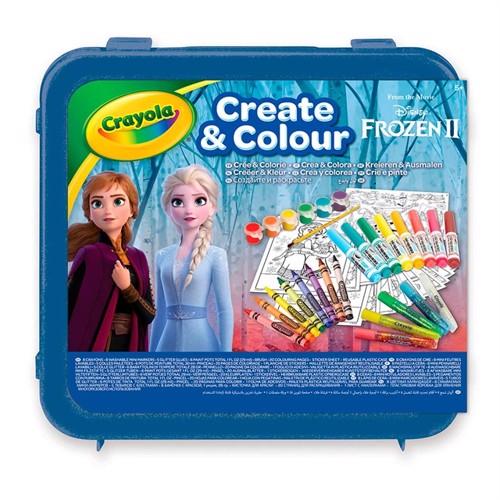 Image of Crayola Frozen 2 Farvekuffert Med Glitter