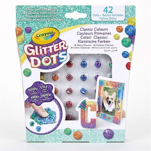 Image of Crayola glitter prikker basis farver