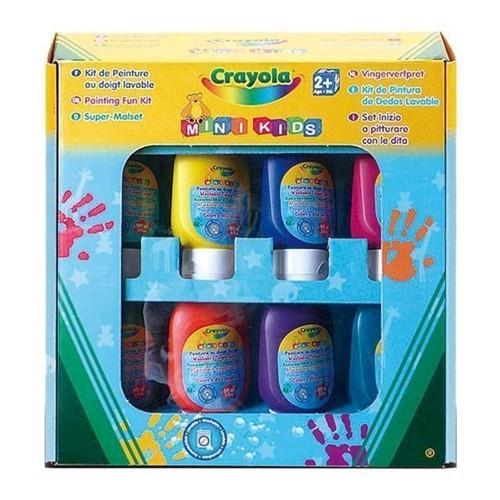 Image of Crayola Mini Kids vaskbar finger maling, 8 dele