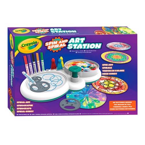 Image of Crayola, spin og spiral station
