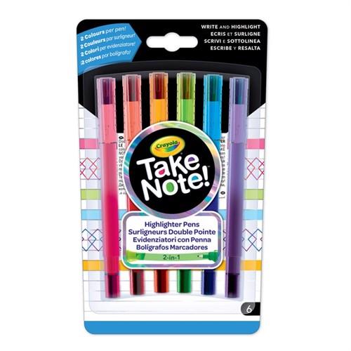 Image of Crayola Take Note, overstregningstush, 6 stk