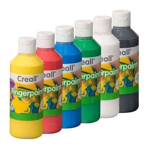 Image of Creall Fingermaling sæt 250 ml, 6 stk (8714181071156)