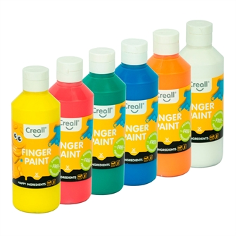 Image of Creall Finger Paint Set Preservation Free, 6x250ml. (8714181078353)