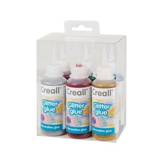 Image of Creall Glitter glue set, 6x100ml (8714181096104)