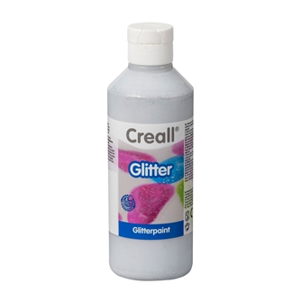 Image of Creall Glitter Paint Silver, 250ml (8714181012203)