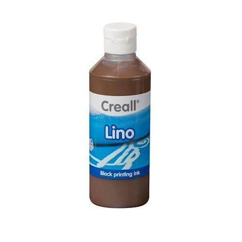 Image of Creall Lino Blockprint maling brun 250ml