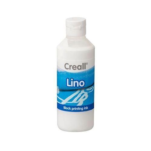 Image of Creall Lino Blockprint maling hvid 250ml