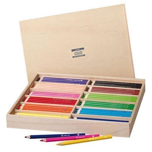 Image of Creall Maxi farveblyanter i kasse, 147 dele (8714181295156)