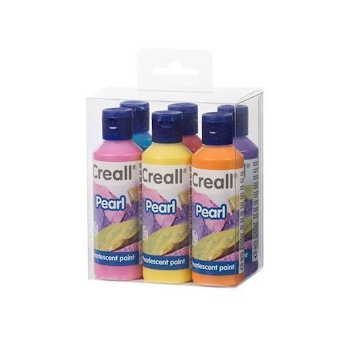 Image of Creall perlemaling sæt 80 ml, 6 stk (8714181920102)