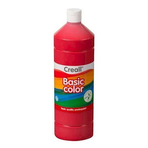 Image of Creall skole maling lys rød 1 liter (8714181018052)