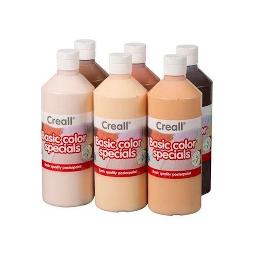 Image of Creall Skole maling sæt, verdens farver 6x500ml