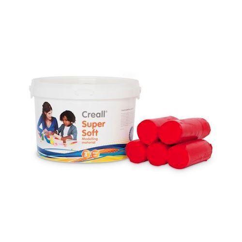 Image of Creall Supersoft modellervoks, rød 1750g (8714181250117)