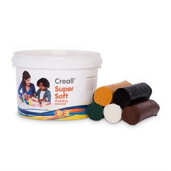 Image of Creall Supersoft Clay Safari colors, 1750gr. (8714181250902)