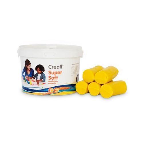 Image of Creall Supersoft modellervoks, gul 1750g (8714181250148)