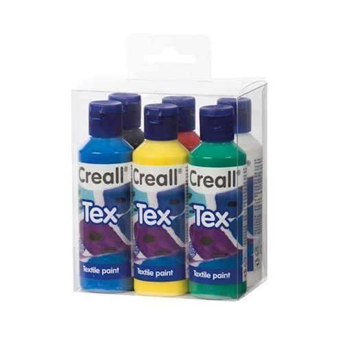 Image of Creall Textil maling sæt 80ml, 6 stk (8714181920126)