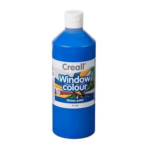 Image of Creall vindues maling blå 500ml (8714181200259)