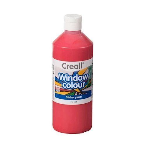 Image of Creall vindues maling rød 500ml (8714181200235)