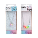 Create It! Necklace Pompons + Confetti Heart