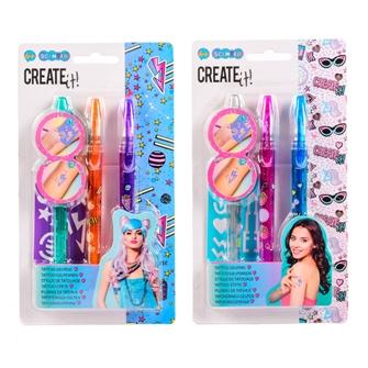 Image of Create It! Tattoo Penne, 3st + Skabelon (8712916092698)