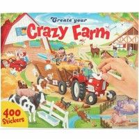 Create your crazy farm klistermærkebog
