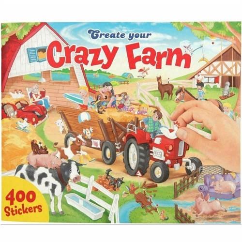 Image of Create your crazy farm klistermærkebog