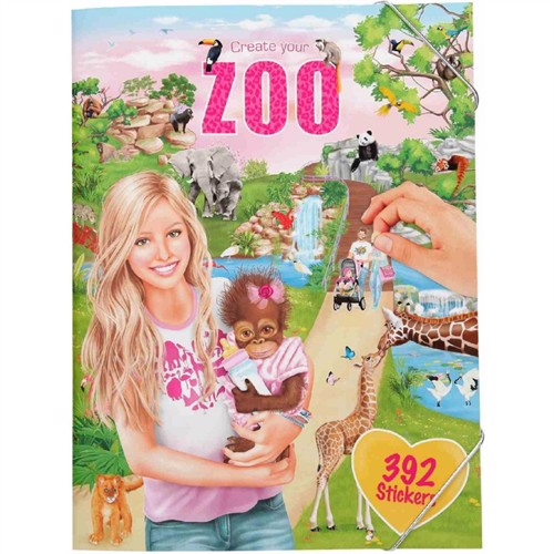 Image of Create your own zoo - Klistermærkebog